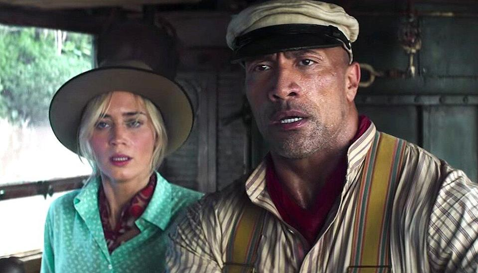 Emily Blunt and Dwayne Johnson Jungle Cruise Trailer