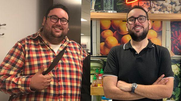 PHOTO: Antonio Martinez, of Chicago, is pictured before, left, and after his weight loss. (Instacart/Antonio Martinez)