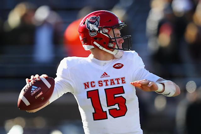 NC State's uniforms in 2017. (Getty images)