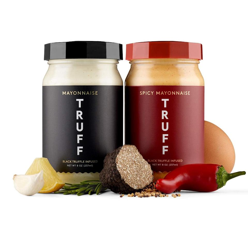 <p>Made with black winter truffle, elevate your mayo game with the <span>TRUFF Mayo, Gourmet Mayonnaise in Original and Spicy Flavor</span> ($25). Use them as a dipping sauce for wings or on your summer BBQ sandwiches.</p>