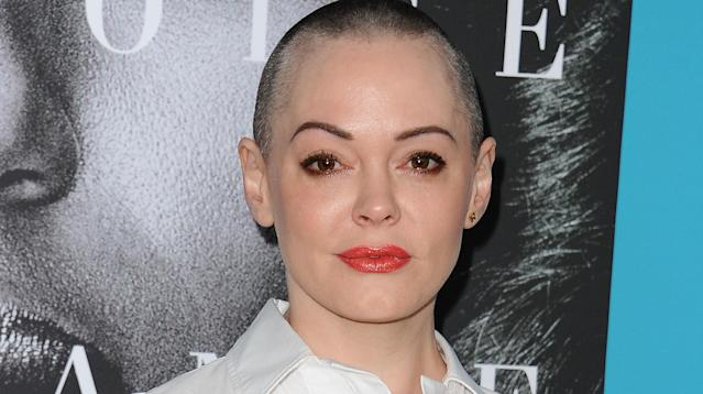 Rose McGowan is back on Twitter after she posted a message to Instagram late Wednesday saying that the company had suspended her account.