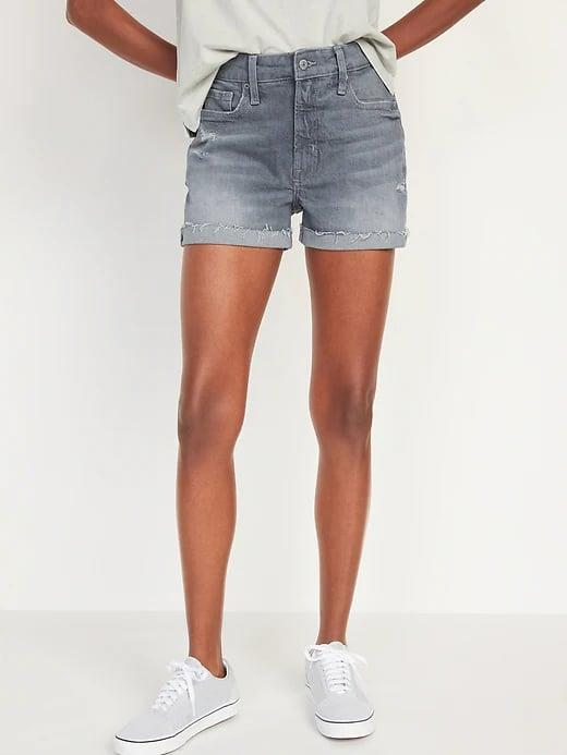 <p>These <span>Old Navy High-Waisted O.G. Gray Cut-Off Jean Shorts</span> ($35, originally $40) would look chic with a crop top, too.</p>