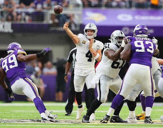 Raiders' game grades vs. Vikings: Slow start, poor play and another road loss