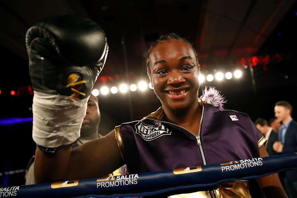 Two-time Olympic gold medalist Claressa Shields is the 2017 Yahoo Sports female boxing Fighter of the Year. (Getty Images)