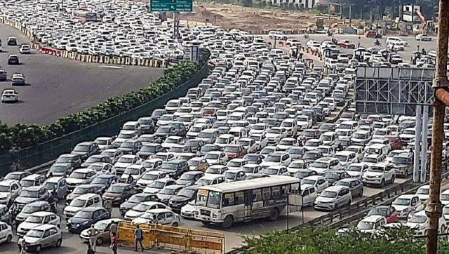 The Delhi-NCR region, where thousands cross borders each day was severely hit and witnessed traffic snarls. PTI