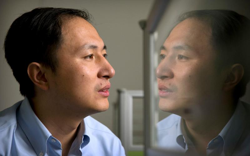 Scientist He Jiankui outraged the gene editing community with his announcement that he had used CRISPR-Cas9 to edit two embryos and then transferred them to become pregnancies. (The Telegraph)