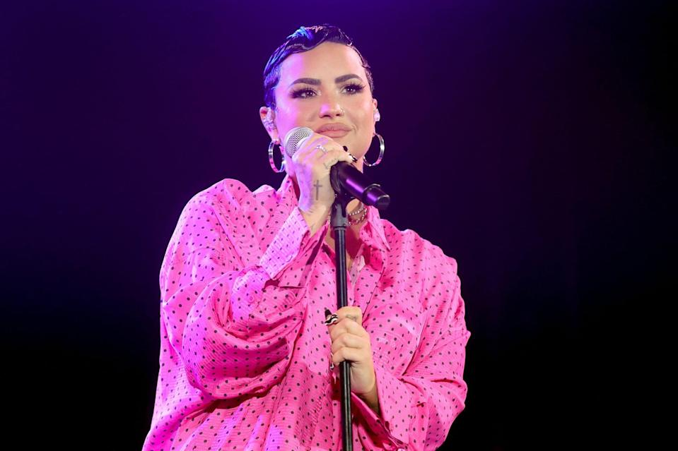 BEVERLY HILLS, CALIFORNIA - MARCH 22: Demi Lovato performs onstage during the OBB Premiere Event for YouTube Originals Docuseries