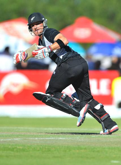 Brendon McCullum in his innings of 17 runs during the 2nd One Day International match between South Africa and New Zealand at De Beers Diamond Oval on January 22, 2013 in Kimberley, South Africa.(Photo by Duif du Toit/Gallo Images/Getty Images)
