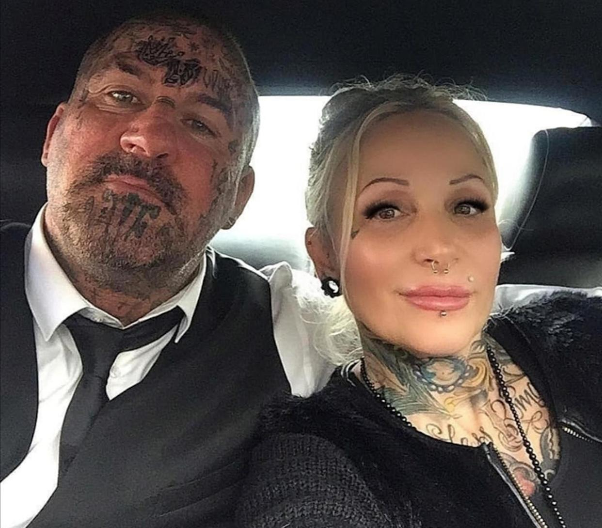 Paul and Annie Riggs, 49 and 52, say they are being targeted by 'neighbours from hell' due to their appearance. (Caters)