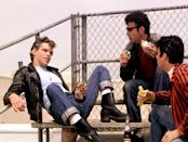 <p>It was all about mixing leather and denim in <em>Grease</em>. One of the most iconic members of the T-Birds, who brilliantly pulled off cuffed jeans and a motorcycle jacket, was Kenickie. </p>