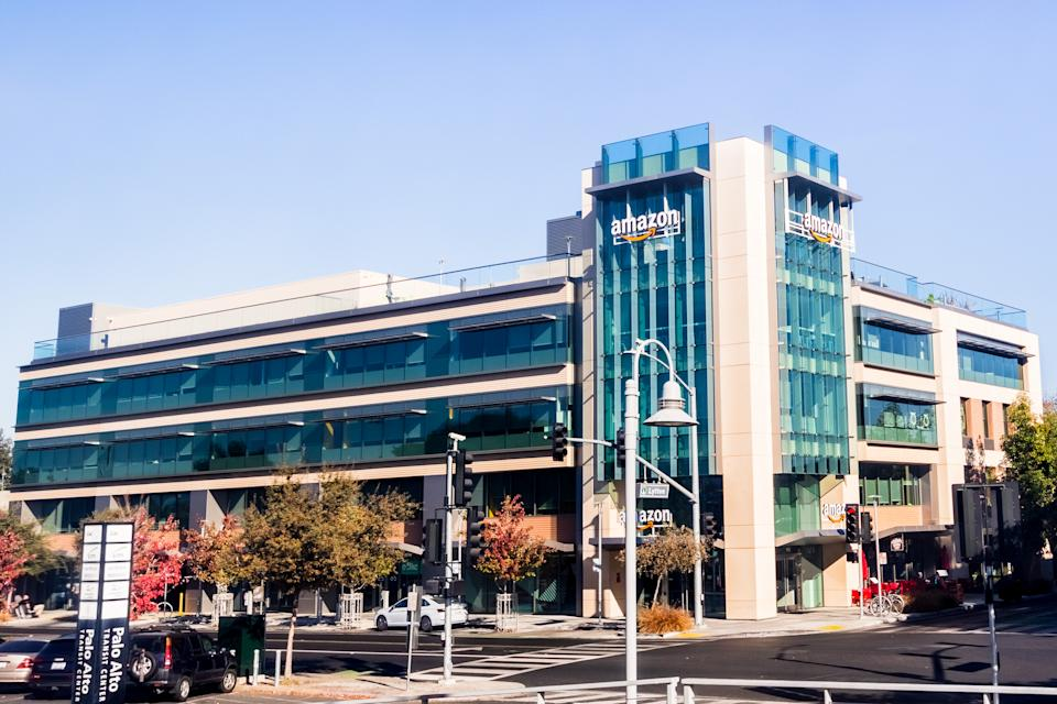 One of Amazon office building in Silicon Valley, San Francisco. (Source: Getty)