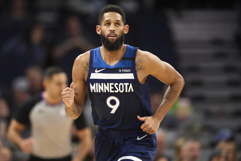 Allen Crabbe had his contract bought out by the Timberwolves in February. (Hannah Foslien/Getty Images)