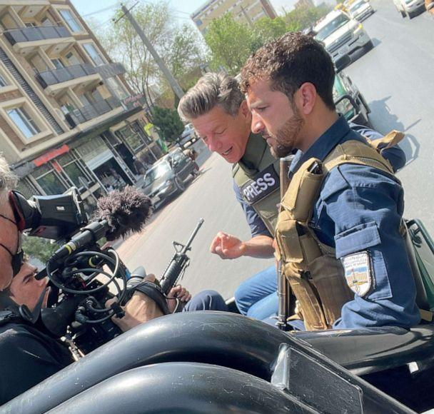 PHOTO: ABC News Senior Foreign Correspondent Ian Pannell travels with Afghan police mobile unit in Kabul, Afghanistan, in May 2021. (Aleem Agha/ABC News)
