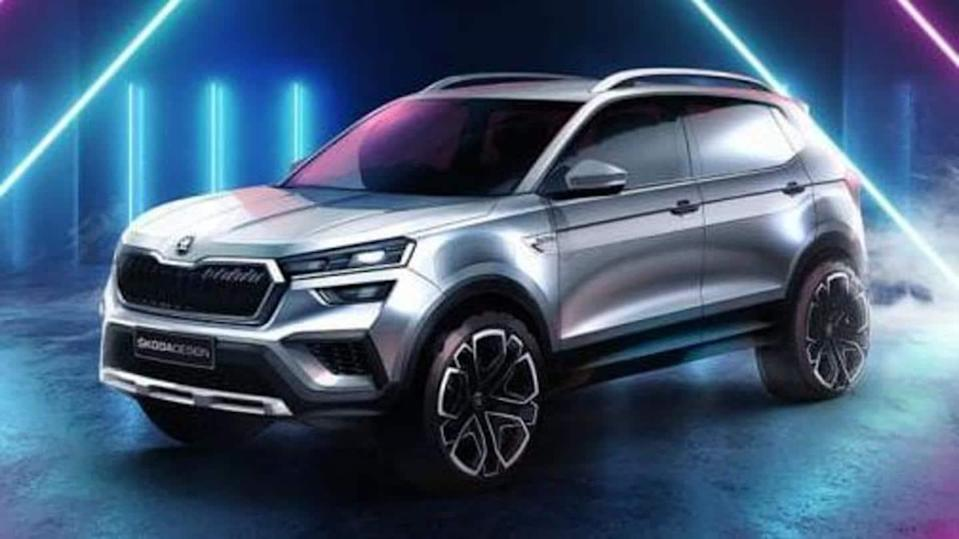 Prior to launch, SKODA KUSHAQ SUV previewed in official sketches