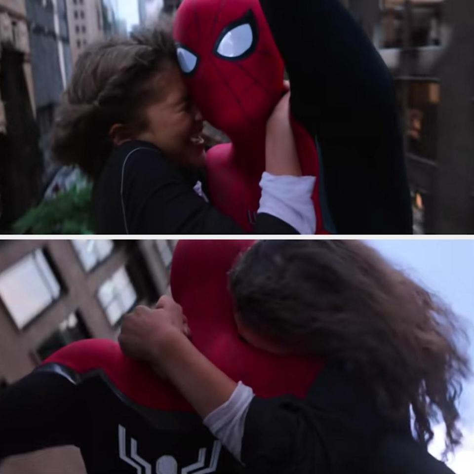 Zendaya in the version of the stunt that ended up in the film