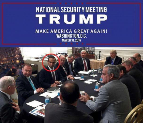 PHOTO: Photo posted to Donald Trump's Instagram account showing George Papadopoulos, circled in red. (realdonaldtrump/Instagram)