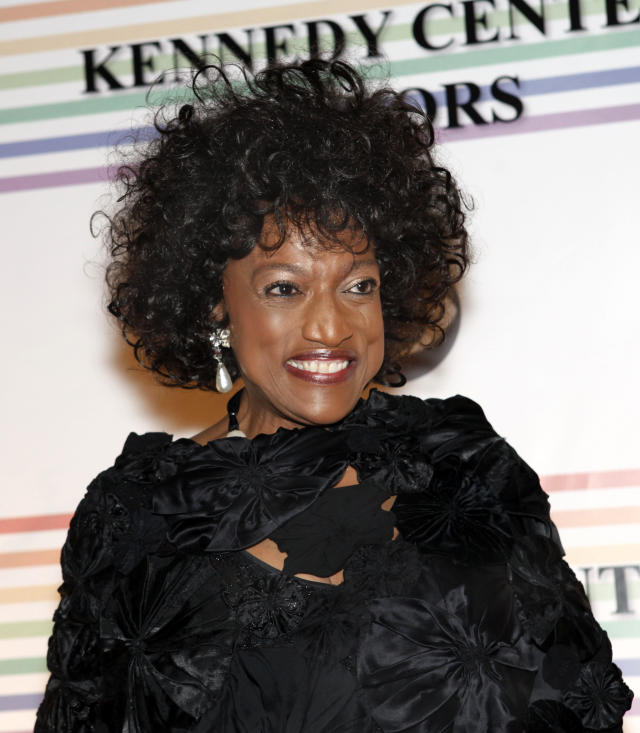 FILE - This Dec. 5, 2010 file photo shows opera singer Jessye Norman at the Kennedy Center Honors in Washington. Norman died, Monday, Sept. 30, 2019, at Mount Sinai St. Luke's Hospital in New York. She was 74. (AP Photo/Jacquelyn Martin, File)
