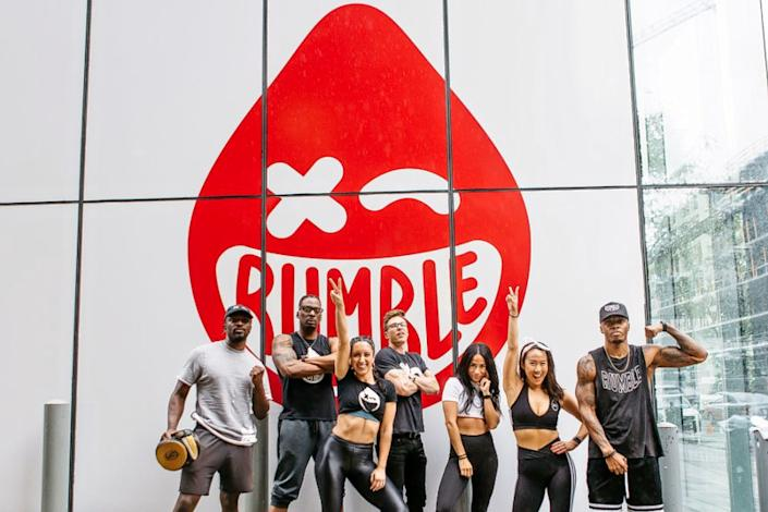 """<p>Photo: Rumble Boxing/<a href=""""https://www.yelp.com/biz_photos/rumble-boxing-washington-2?select=hDmMJQpFXnNDPinqf_9Qzg&utm_campaign=863ff133-28d1-4066-acfe-2aebadf82e50%2Cb371de25-9574-466d-900f-69a4f6b66289&utm_medium=81024472-a80c-4266-a0e5-a3bf8775daa7"""" rel=""""nofollow noopener"""" target=""""_blank"""" data-ylk=""""slk:Yelp"""" class=""""link rapid-noclick-resp"""">Yelp</a></p>"""