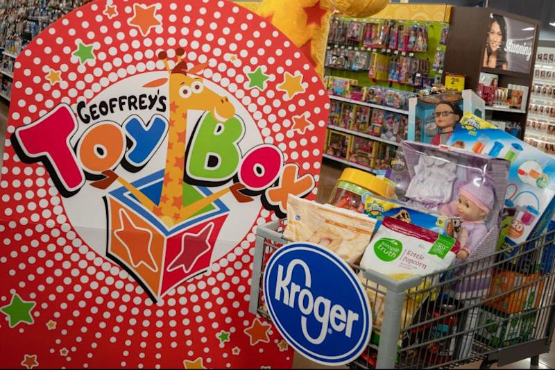 Geoffrey's Toy Box is coming to Kroger this holiday season