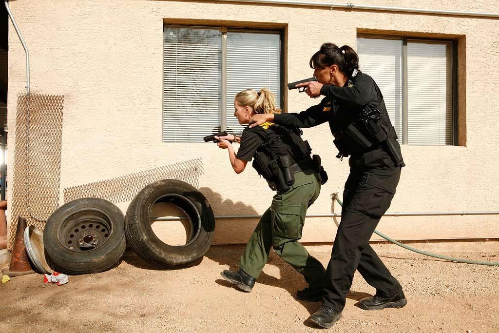 "Filming of ""The Police Women of Maricopa County""."