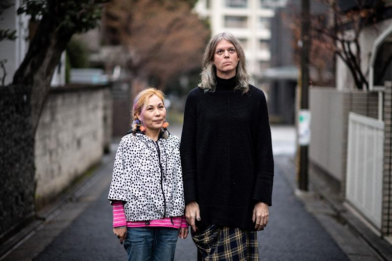 Elin McCready, a transgender woman, has been married for 19 years, but registering her female identity and name has thrown her union into jeopardy because Japan doesn't recognise gay marriage (AFP Photo/Martin BUREAU)