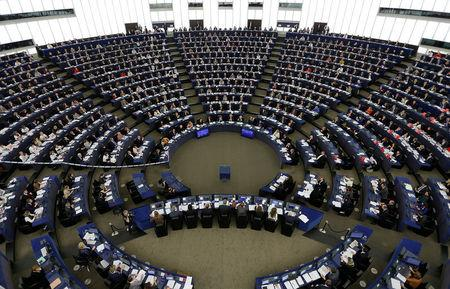 MEPs take part in a voting session on the CETA between the EU and Canada, at the European Parliament in Strasbourg