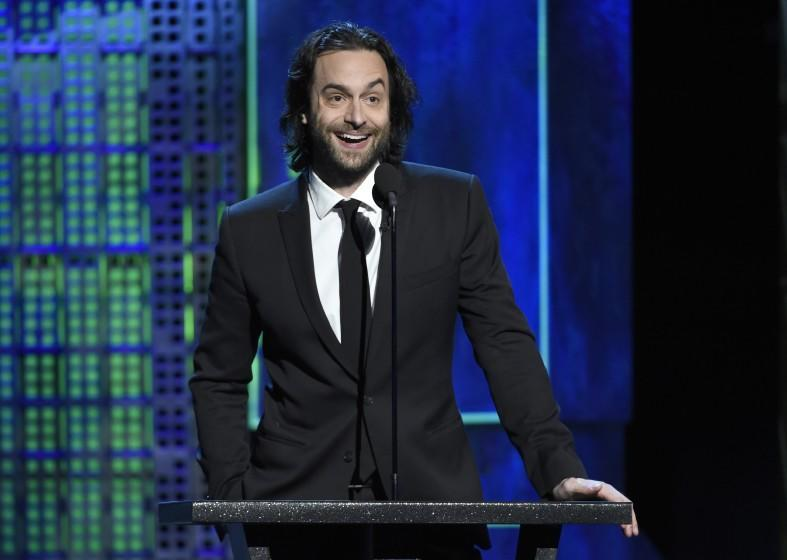 Chris D'Elia speaks at the Comedy Central Roast of Justin Bieber at Sony Pictures Studios on Saturday, March 14, 2015, in Culver City, Calif. (Photo by Chris Pizzello/Invision/AP)