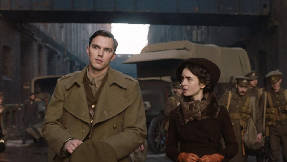Nicholas Hoult and Lily Collins in Tolkien (Credit: Fox)