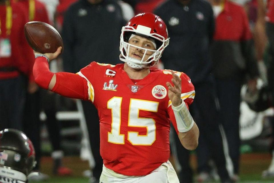 <p>Mahomes y Kansas City fueron derrotados por los Buccaneers en el Super Bowl LV</p> (Getty Images)