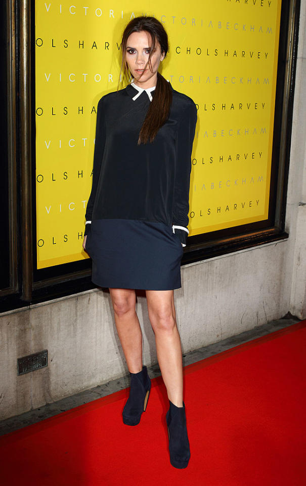 "Sixteen years after the Spice Girls' song ""Wannabe"" was released, Victoria Beckham, the former Posh Spice, has truly become the fashionista everyone wants to dress like. The 38-year-old frequently outfits Hollywood stars in her Victoria Beckham dresses, and even won the Designer Brand of the Year honor at the 2011 British Fashion Awards last November, beating out labels like Tom Ford, Burberry, and Stella McCartney."