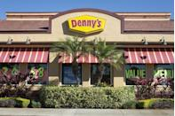 """<p>All 1,700 locations around the country are open 24/7, 365 days a year. That means you don't have to wait until Wednesday to dive into <a href=""""https://www.dennys.com/"""" rel=""""nofollow noopener"""" target=""""_blank"""" data-ylk=""""slk:Denny's"""" class=""""link rapid-noclick-resp"""">Denny's</a> famous Grand Slam Breakfast. </p>"""