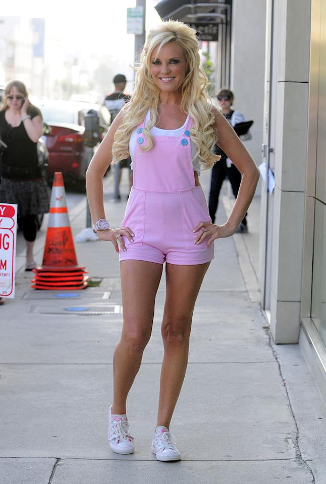"""36-year-old women, including former """"Girls Next Door"""" star Bridget Marquardt, probably shouldn't wear ridiculous, Barbie-like rompers in public. Then again, Barbie probably wouldn't even be caught dead in that thing. EM43/<a href=""""http://www.splashnewsonline.com"""" target=""""new"""">Splash News</a> - June 2, 2010"""