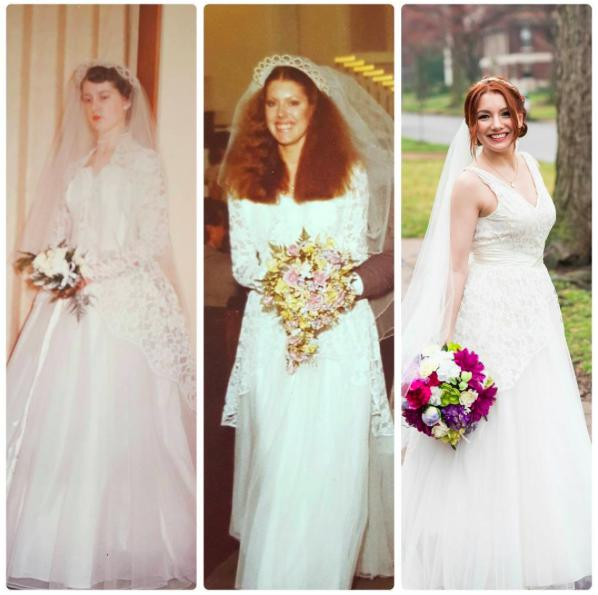 Bride Wears The Same Wedding Dress As Her Mum And Grandmother, Looks ...