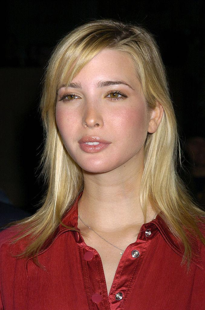 <p>Ivanka opts for side-swept bangs but sticks to her usual neutral pink makeup. (Photo: Getty Images) </p>