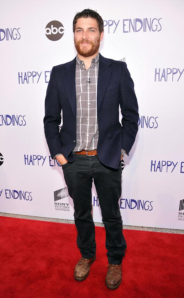 "Adam Pally arrives at Sony Pictures Television's screening of ABC's ""Happy Endings"" at the  Leonard H. Goldenson Theatre on May 24, 2012 in North Hollywood,  California."