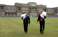 """<p>According to the royal family's official website, """"all members of The Royal Household will receive Christmas presents from The Queen and Her Majesty will personally hand out presents to some members of The Royal Household at <a href=""""https://www.royal.uk/royal-residences-buckingham-palace"""" rel=""""nofollow noopener"""" target=""""_blank"""" data-ylk=""""slk:Buckingham Palace"""" class=""""link rapid-noclick-resp"""">Buckingham Palace</a> and at Windsor Castle. Continuing the tradition from her father, <a href=""""https://www.royal.uk/george-vi-r1936-1952"""" rel=""""nofollow noopener"""" target=""""_blank"""" data-ylk=""""slk:King George VI"""" class=""""link rapid-noclick-resp"""">King George VI</a> and her grandfather, George V—The Queen also gives Christmas puddings to her staff. About 1500 Christmas puddings paid for by The Queen (through the <a href=""""https://www.royal.uk/royal-finances-0"""" rel=""""nofollow noopener"""" target=""""_blank"""" data-ylk=""""slk:Privy Purse"""" class=""""link rapid-noclick-resp"""">Privy Purse</a>) are distributed to staff throughout the Palaces, staff in the Court Post Office and Palace police. Each pudding is accompanied by a greeting card from The Queen and The Duke of Edinburgh."""" </p>"""