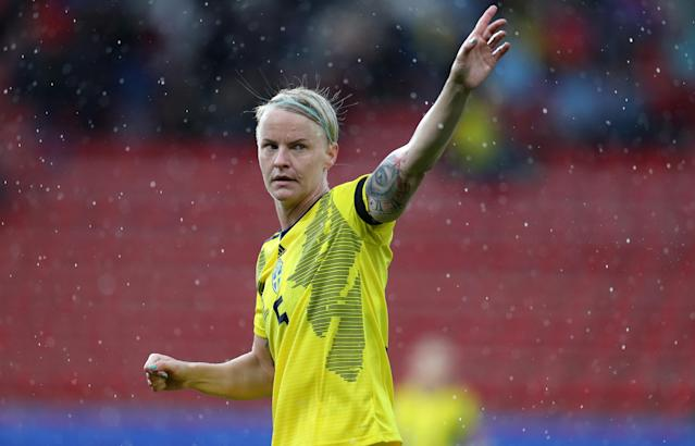 Sweden's Nilla Fischer has been outspoken about equal rights. (Photo by Catherine Ivill - FIFA/FIFA via Getty Images)