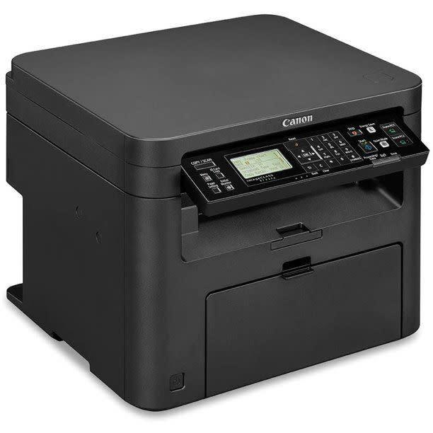 """<strong>Pages Per Minute:</strong> This printer can print 24 pages per minute. <br> <strong>Monochrome Vs. Color:</strong> It&rsquo;s a monochrome laser print so you&rsquo;ll only be able to print black and white. <br> <strong>Cartridge Details:</strong> For this printer, you&rsquo;ll need to get a Cartridge 137 for replacement ink. <br> <strong>What Else Can This Printer Do:</strong> You can scan, copy and fax with this Canon. And you can connect different devices wirelessly. <br><strong>$$$:</strong> <a href=""""https://fave.co/31jMsVS"""" rel=""""nofollow noopener"""" target=""""_blank"""" data-ylk=""""slk:Find it for $99 at Walmart"""" class=""""link rapid-noclick-resp"""">Find it for $99 at Walmart</a>."""