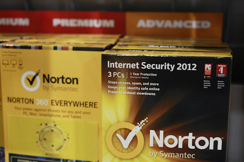 Norton's Internet Security 2012 software for computer security on display at Best Buy in Mountain View, Calif., Friday, July 6, 2012. Despite repeated alerts, tens of thousands of Americans may lose their Internet service Monday unless they do a quick check of their computers for malware that could have taken over their machines more than a year ago. The warnings about the Internet problem have been splashed across Facebook and Google. Internet service providers have sent notices, and the FBI set up a special website. (AP Photo/Paul Sakuma)
