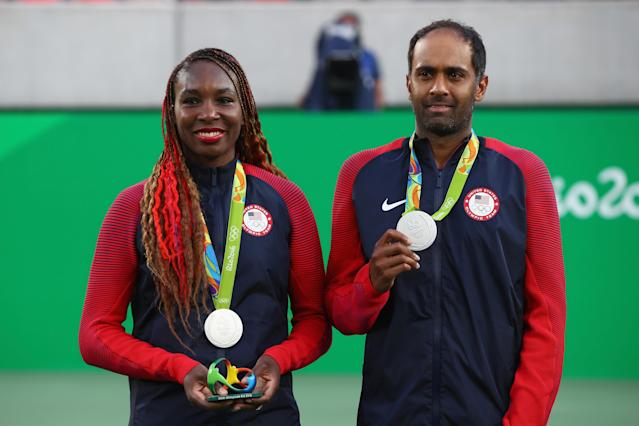 <p>Like her younger sister, Venus Wiliams also has four Olympic gold medals, having won doubles in 2000, 2008 and 2012, as well as singles honors at the 2000 Games. The elder Williams sister also has a lone silver medal in mixed doubles from the 2016 Games in Rio. (Getty) </p>