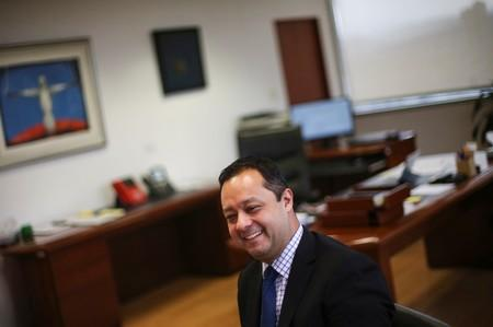 Mexico's Undersecretary of Finance and Public Credit Gabriel Yorio smiles during an interview with Reuters in Mexico City