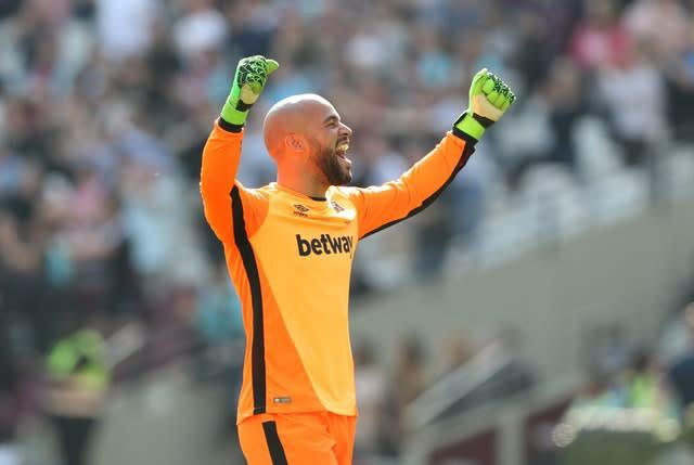 Darren Randolph could be on his way back to West Ham after two and a half years at Middlesbrough (John Walton/PA)