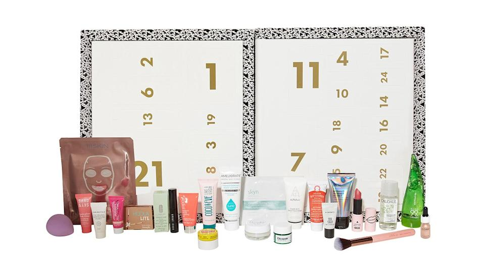 """<p>ASOS never fails to deliver and this year, the online giant's advent calendar is at the top of our wish list. The set includes some old favourites with Benefit's Hoola bronzer and Skyn Iceland's cult Hydro Cool Firming eye gels. Just try not to open them all in one go… Available <a href=""""https://www.asos.com/beauty-extras/the-face-body-advent-calendar/prd/9946328"""" rel=""""nofollow noopener"""" target=""""_blank"""" data-ylk=""""slk:online"""" class=""""link rapid-noclick-resp"""">online</a> now for £55. </p>"""