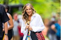 <p>Chunky, face-framing highlights continue to reign this fall. Bright golden streaks like actress <strong>Sarah Jessica Parker</strong>'s add tons of dimension to a sandy base color. </p>
