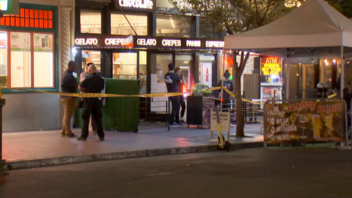 Image: The scene of a deadly shooting in San Diego's Gaslamp District (KNSD)