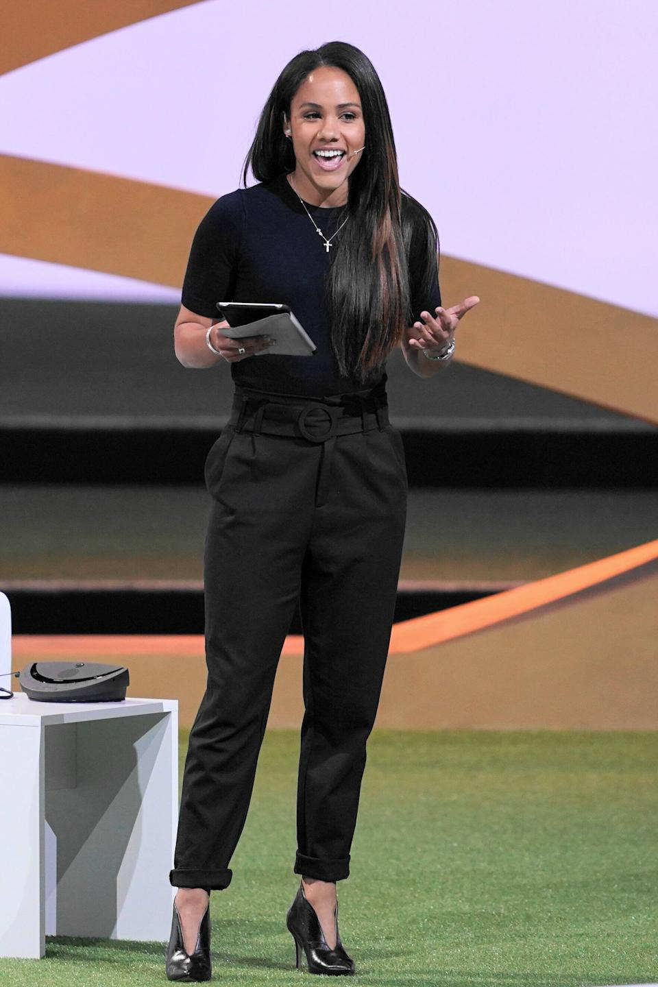 """The 12th star confirmed for this year's sports-heavy line-up was Alex Scott, best known as a former England Lioness and a presenter during the World Cup coverage, most notably on Match Of The Day.<br /><br />She said Strictly is the show she's """"always wanted to do"""", adding: """"I'm super excited, but also terrified at the same time… The football pitch is a bit less glam than the ballroom, but I'm ready to try the sequins and dresses! Bring it on!"""""""