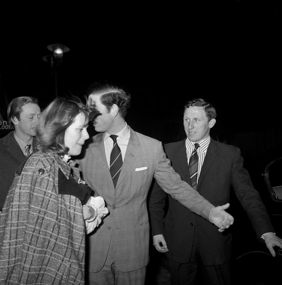 <p>Here she is pictured with Charles while he is single and she is married.</p>