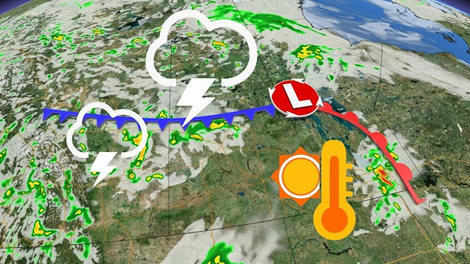 Tornado warnings end on the Prairies, storm risk shifts east for Sunday