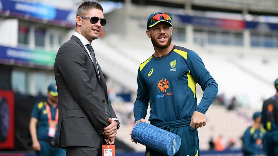Michael Clarke has forged a career in the media after retiring from cricket in 2015. (Photo by Harry Trump-ICC/ICC via Getty Images)