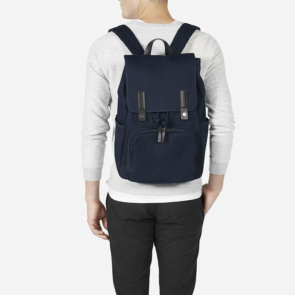 """<p><strong>Everlane </strong></p><p>everlane.com</p><p><strong>$68.00</strong></p><p><a href=""""https://go.redirectingat.com?id=74968X1596630&url=https%3A%2F%2Fwww.everlane.com%2Fproducts%2Fmens-modern-snap-backpack-navy&sref=https%3A%2F%2Fwww.goodhousekeeping.com%2Fholidays%2Fgift-ideas%2Fg4352%2Fhigh-school-graduation-gifts%2F"""" rel=""""nofollow noopener"""" target=""""_blank"""" data-ylk=""""slk:Shop Now"""" class=""""link rapid-noclick-resp"""">Shop Now</a></p><p>He's moving on up, and his style should reflect that. This cotton twill backpack from Everlane looks incredibly chic and sophisticated, but still has the functionality that he needs for work or school. </p>"""